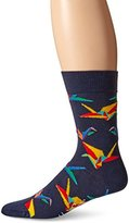 Happy Socks Men's 1 Pack Unisex Combed Cotton Crew-Navy Origami