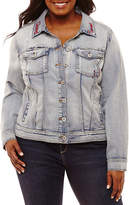Arizona Denim Jacket-Juniors Plus