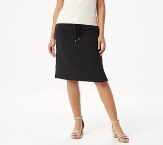 Susan Graver Liquid Knit Pull-On Skirt with Drawstring