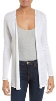 Majestic Filatures Women's Open Front Linen Cardigan