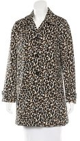 3.1 Phillip Lim Leopard Print Knee-Length Coat