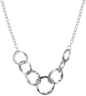 Prime Art & Jewel Sterling Silver Open Link Frontal Necklace
