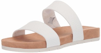 Rialto Tipsy Slide Sandal White Size 7.5