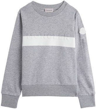 Moncler Grey Jersey Sweatshirt With Logo