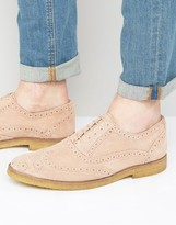 WALK LONDON Walk London Duke Suede Oxford Brogue Shoes