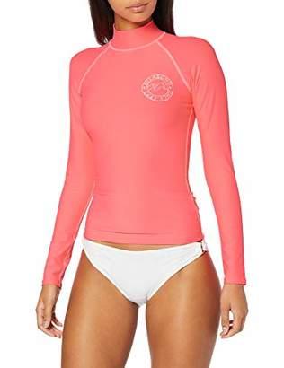 Billabong Women's Logo in Ls Swim Shirt,(Size: Large)