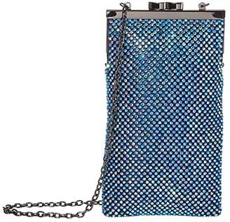 Jessica McClintock Annabelle North/South (Iridescent Blue) Handbags