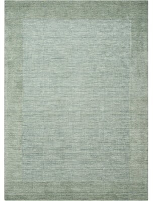 """Wrought Studioâ""""¢ Ivery Hand-Knotted Wool Azure Area Rug Wrought Studioa Rug Size: Rectangle 5'6"""" x 7'5"""""""