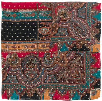 Versace Pre-Owned Silk 1980s Abstract Print Scarf