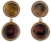 Oscar de la Renta Tiger's Eye Drop Earrings