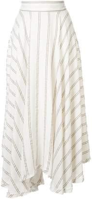 Kitx Handwoven stripe circle skirt