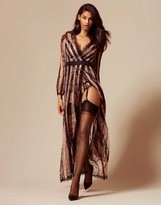 Agent Provocateur Saffi Gown Black And Nude