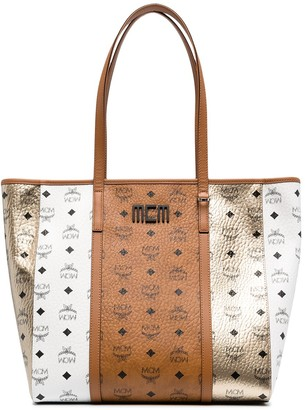 MCM Toni panelled tote bag