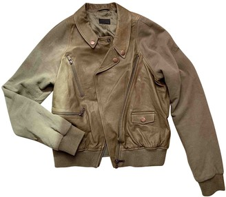 Diesel Khaki Leather Jackets