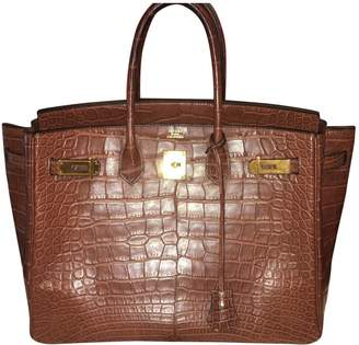 Hermes Birkin 35 Brown Crocodile Handbags