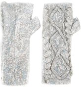 Filles a papa 'Erin' sequined fingerless gloves - women - Viscose - 42