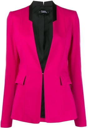 Karl Lagerfeld Paris Fitted Lapeless Blazer
