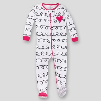 Lamaze Baby Girls' Organic Cotton Long Sleeve Footed Stretchy One Piece Pajama - Pink/