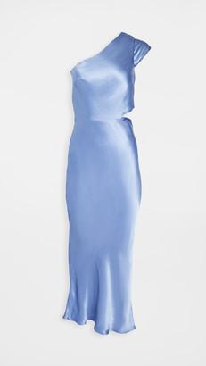Bec & Bridge Delphine Asymmetric Midi Dress