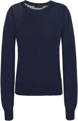 Rag & Bone Paneled Open-knit And Knitted Top
