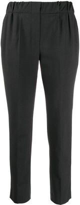 Brunello Cucinelli elastic-waist tapered-leg trousers