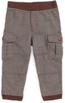 Tea Collection Infant Boy's Herringbone Cargo Pants