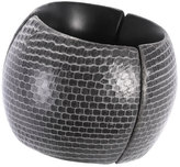 Josie Natori Rounded Snakeskin Bangle