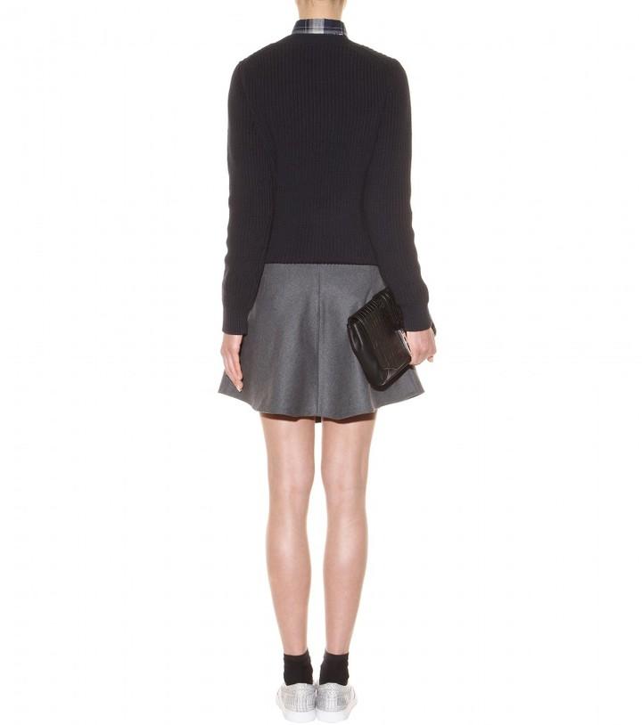 Carven Wool-blend mini skirt