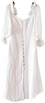 Cult Gaia White Linen Dresses