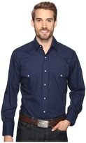 Roper 0772 Solid Broadcloth - Navy Fancy Men's Clothing