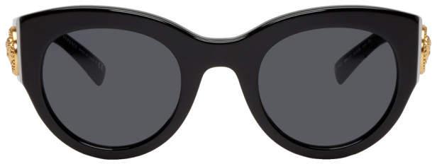 Versace Black Cat-Eye Sunglasses