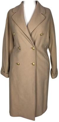 Genny Beige Wool Coat for Women