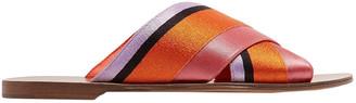 Diane von Furstenberg Bailie Color-block Satin Slides