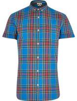River Island MensBlue plaid shirt