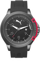 Puma Pioneer Black Silicone Strap Watch PU104011001