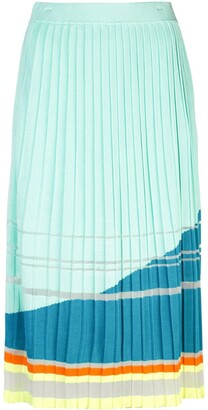 I Am Chen Knit Pleated Midi Skirt