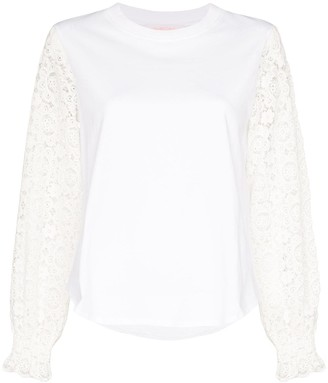 See by Chloe Lace Sleeve Blouse