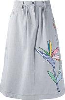 Mira Mikati embroidered skirt - women - Cotton/Spandex/Elastane - 38