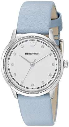 Emporio Armani Women's AR1914 Stainless Steel Crystal-Accented Watch with Pale Blue Band