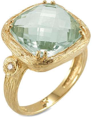 I. Reiss 14K 3.78 Ct. Tw. Diamond & Green Amethyst Color Ring