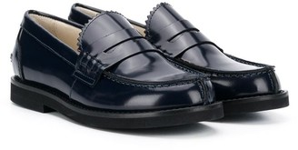 Montelpare Tradition Patent Round-Toe Loafers