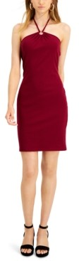 Bar III Ribbed Bodycon Halter Dress, Created for Macy's