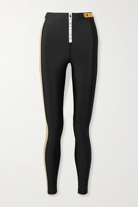 P.E Nation Level Up Color-block Stretch Leggings - Black