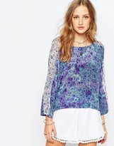 Gypsy 05 Printed Silk CDC Dolman Sleeve Top