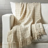 Crate & Barrel Lindsey Natural Throw