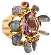 Bounkit Amethyst & Labradorite Ring