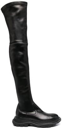 Alexander McQueen Long Leather Boots