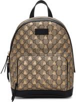 Gucci Beige GG Supreme Bestiary Backpack