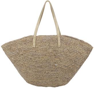 Flora Bella Sapelo Raffia Beach Tote Bag