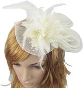 ThaliaDress Women's Mesh Fascinator Party Hat with for Dance Tea Party Wedding T008TS